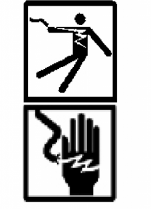 Shock Hazard Icons